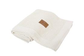 Kocyk tkany Organic z bawełny organicznej kremowy Poofi