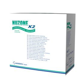 Rękawice sterylne bezpudrowe bezlateksowe NUZONE x2