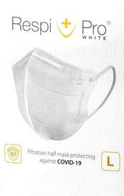 Maska antywirusowa medyczna RespiPro White 1 szt. - Środki do sprzątania
