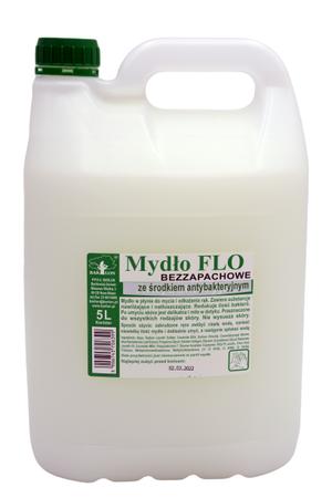 Mydło antybakteryjne bezzapachowe do mycia rąk FLO 5 L
