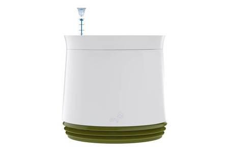 Biofiltr Airy M - doniczka oczyszczająca powietrze biały/zielony