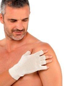 DermaSilk Rękawiczki bez palców 1 para męskie