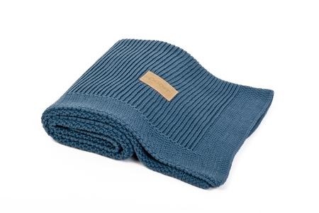 Kocyk tkany Organic z bawełny organicznej czarny Poofi