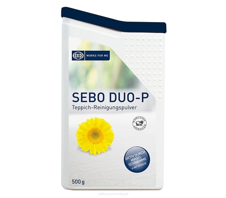 Proszek do czyszczenia na sucho SEBO DUO-P 500g + szczotka