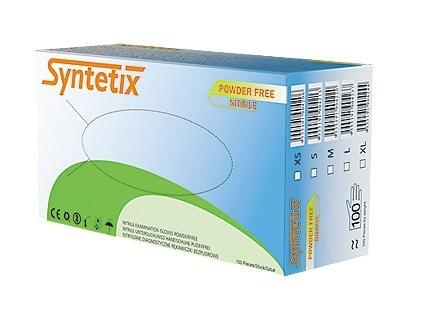 SYNTETIX Rękawiczki diagnostyczne (M) 100 szt, nitrylowe, bezpudrowe (1)