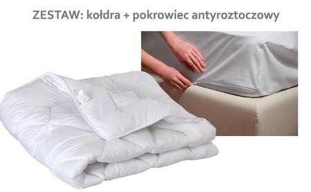 Kołdra Całoroczna + pokrowiec antyroztoczowy na kołdrę 180x200
