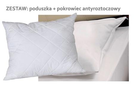 Poduszka + pokrowiec antyroztoczowy 40x40