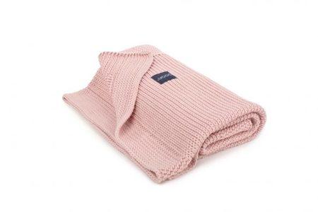 Kocyk tkany bawełniany dziecięcy Poofi denim