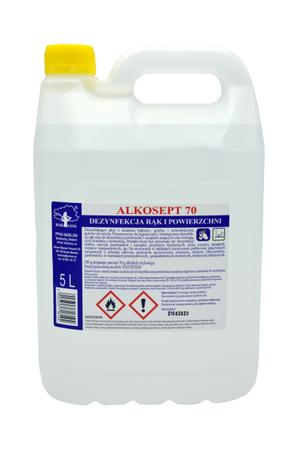 Płyn do dezynfekcji rąk i powierzchni Alkosept 70 5 L