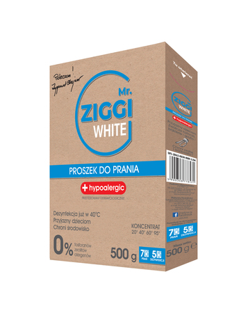 Proszek hipoalergiczny do prania Mr. ZIGGI White 500g
