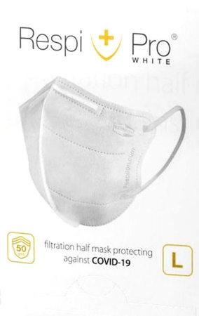 Maska antywirusowa medyczna RespiPro White 1 szt. (1)