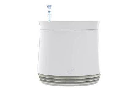 Biofiltr Airy M - doniczka oczyszczająca powietrze biały/biały