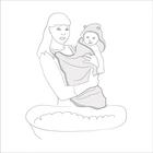 Ręcznik  bambusowy z kapturkiem dla dziecka 85x85 Poofi (5)