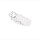 Ręcznik  bambusowy z kapturkiem dla dziecka 85x85 Poofi (6)