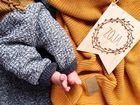 Kocyk tkany Organic z bawełny organicznej miodowy Poofi (4)