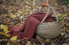 Kocyk tkany Organic z bawełny organicznej ceglany Poofi (3)