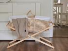 Kocyk bambusowy całoroczny Poofi beżowy 80x100 (2)